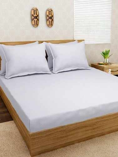 Plain Cotton Fitted Knitted Bed Sheets