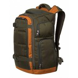 bbcec41d0054 Brown And Orange Fabric Modern Travel Backpack