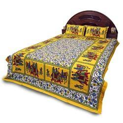 Sanganeri Print Cotton Double Bed Sheet 352
