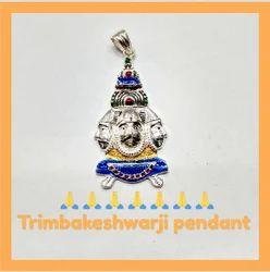 925 Silver Trimbakeshwarji Pendant