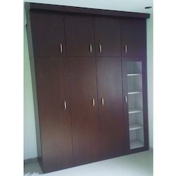 Powder Coated Metal Wardrobes with Wooden Look