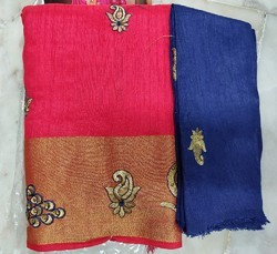 Two tone Pure Sana Silk Saree