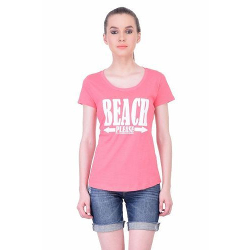 5511987b Round Neck Women T Shirt at Rs 449 /piece | महिलाओं की ...