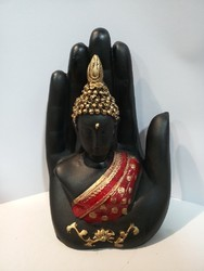 Hand Buddha for Wealth and Success, Good Luck & Prosperity, Feng Shui Idol, Showpiece