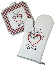 Embroidered Oven Glove & Pot Holder7575