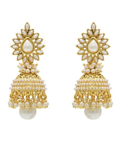 Las Stylish Gold Earring