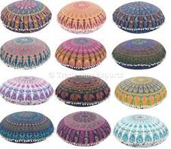 Indian Round Mandala Floor Cushion