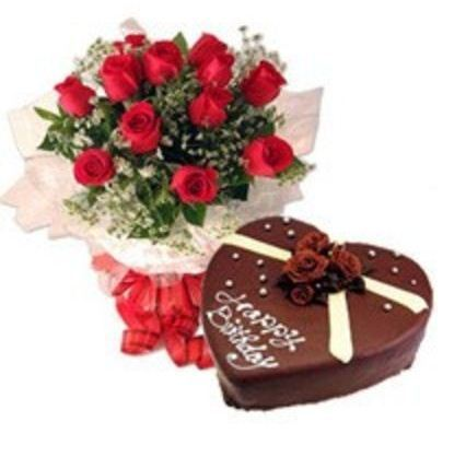 Love cake combo gift good morning florist new delhi id 14120051833 love cake combo gift negle Images