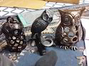 Metal Owl Candle Stand