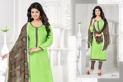 Cotton Fancy Churidar Suit