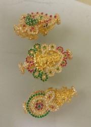 Gold laxmi peacock mopu