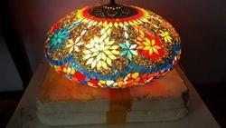 Multi Color Mosaic Ceiling Lamp