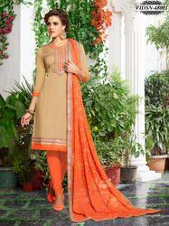 Chanderi Silk Silk Embroidery Dress Material