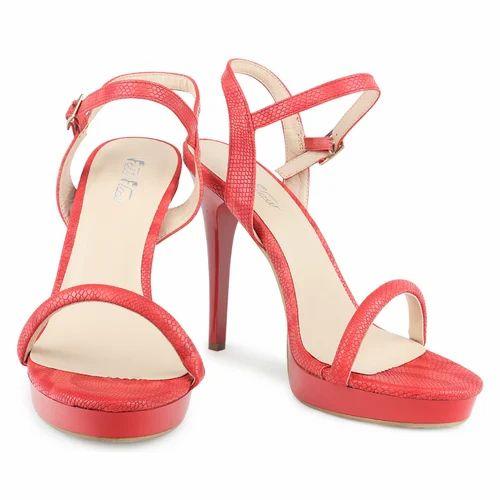 8bbf7c3fb61a54 Ladies Designer Pencil Heel Sandal