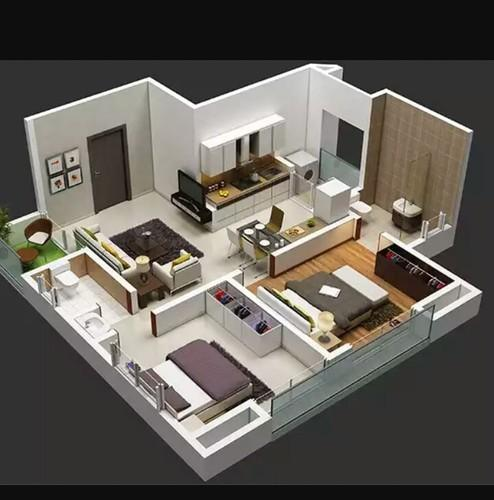 2 Or 3 Bhk Flat Interior Designing Cost In Kolkata: 2bhk Flat, Residential Flats