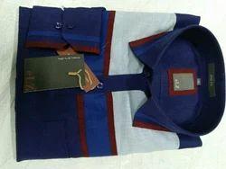Men Check Linen Shirt