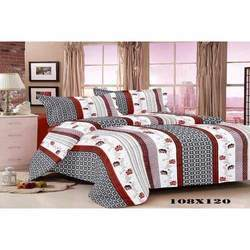 Hotel Printed Satin Bed Sheet