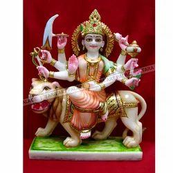 Multi Color Marble Durga Maa God Statue