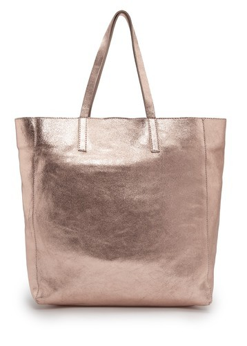 Bronze Metallic Leather Bag