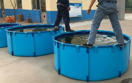 blue foldable pvc 500 liter water storage tank rs 12500 litre id 16174585991. Black Bedroom Furniture Sets. Home Design Ideas