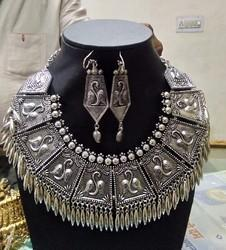 Silver Garba Designer Jewellery Set