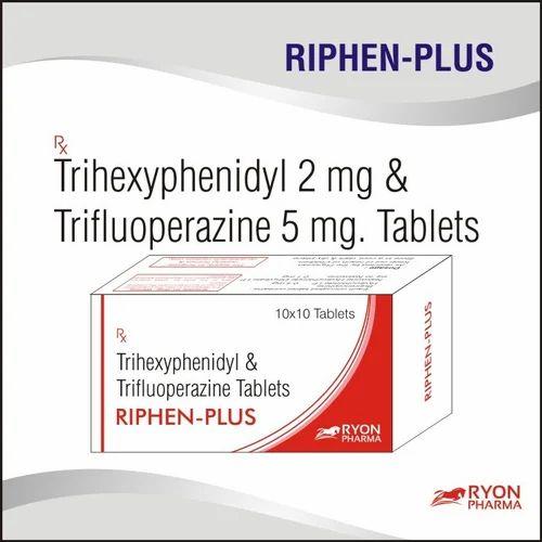 Anti Psychotic - Trifluoperazine And Trihexyphenidyl Tabltes