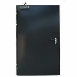 Black Iron Swing Fire Door