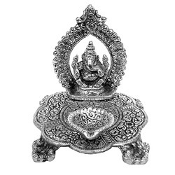 Ganesha Chakra Diya Sculpture