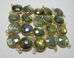 Labradorite Gold Plated Bezel Connector