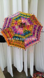 Unique Handmade Embroidery Design Indian Umbrella