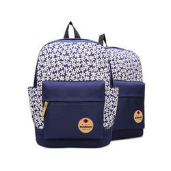 b63e6e44f6 Blue Cube - Manufacturer of Bonmaro Bella Blue Stripe Canvas Backpack    Bonmaro Playoff Red Backpack from Alappuzha