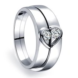 Natural Diamond Couple Matching Band