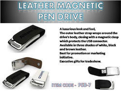 Leather Magnet Pen Drive