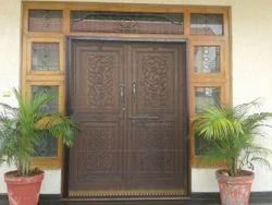6ft 5ft Engraved Wooden Doors