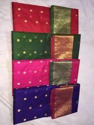 Party Wear Printed Katan Silk Saree, 6.5 meter, With Blouse Piece