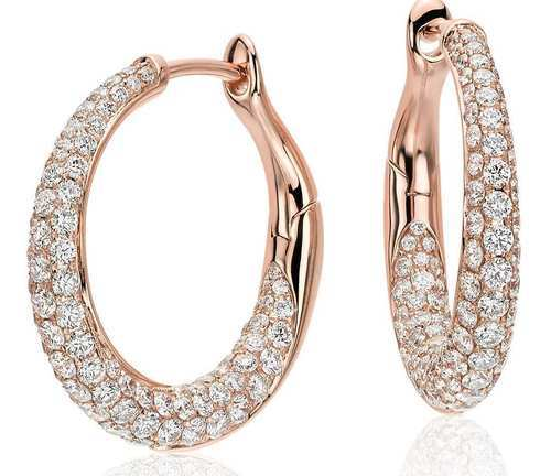 Sheetal Diamonds Rose Gold Diamond Hoop Earrings 1b7bc67480