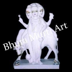 Dattatreya White Marble Statue