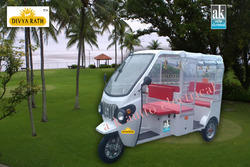Divyarath Transparent Battery Operated Rickshaw