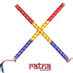 Multicolor Decorated Dandiya Sticks