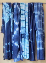 Tie-Dye Indigo Blue Cotton Scarf