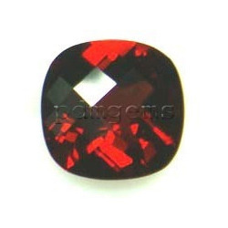 Garnet Cushion Checkerboard Gemstone
