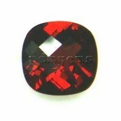 Garnet Cushion Checkerboard Gemstone