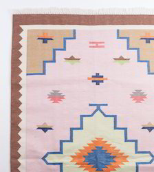 Cotton Rectangular Rugs, for Floor, Packaging Type: Poly Bag