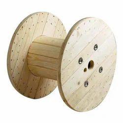 Beige Wooden Cable Drum, Diameter: Below 500mm