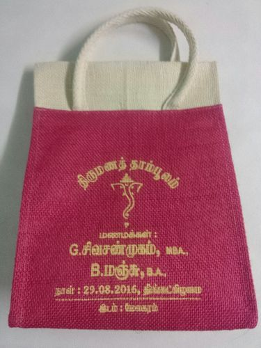 Red Launch Box Jute Marriage Gift Bag Rs 65 Piece Yrs Enterprises