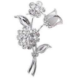 Silver Plated Rose Flower