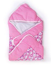 Pink And White Printed Baby Wrap Dry Robe