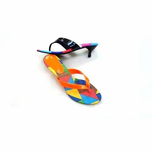 ac766e70b2eb6 Ladies Flat Multicolor Sandals