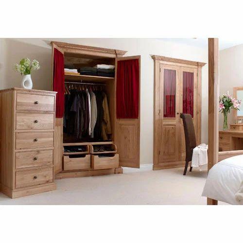 Wood Ceiling Bedroom Bedroom Cabinet Design With Mirror Bedroom Design Pink Bedroom Colors With Brown Furniture: Genesis Wood Works, Hyderabad