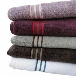 Line Border Bath Towel